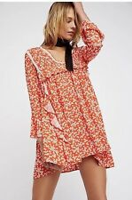 NWT Free People Like You Best Mini Dress Tunic Paprika Combo Size S $128