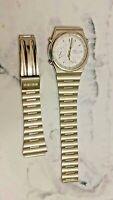 Vintage Seiko 7T32-7A20 Stainless Steel Men's Quartz Watch (For Parts)