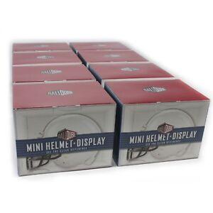 NEW Ballqube Mini Football Helmet Display Case Box (8 Pack)