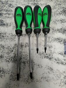 GREEN MAC TOOLS 4PC TORX SCREWDRIVER SET ST20NGT20 ST25NGT26 ST15NGT14 ST10NGT10