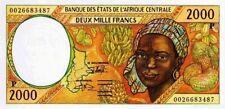 East African States - Tchad billet neuf de 2000 francs pick 603g UNC