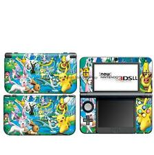 N53 Pokemon Pikachu DECAL Skin case Cover for NEW Nintendo 3DS XL LL Sticker