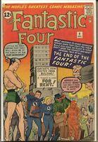 Fantastic Four 1961 series # 9 very good comic book
