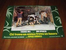 FOTOBUSTA,CHI TROVA UN AMICO TROVA UN TESORO BUD SPENCER T.HILL CORBUCCI 1981
