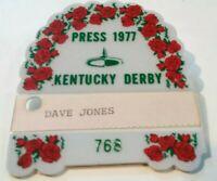 1977 Kentucky Derby Press Badge Horse Racing