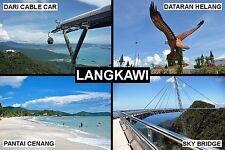 SOUVENIR FRIDGE MAGNET of LANGKAWI MALAYSIA
