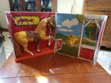 Vintage 1976 Barbie European Equestrian & Fox Hollow Stables 1980 Palomino Horse