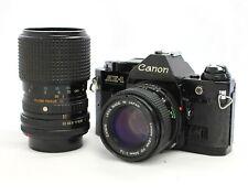 Canon AE-1 Programm Kamera Schwarz W/35-105mm F/3.5-4.3 & Bonus 50mm Aus Japan