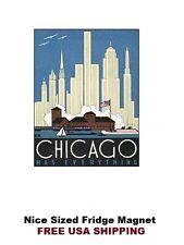 232 - Chicago Illinois Skyline Travel Refrigerator Fridge Magnet