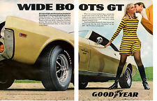 1968 AMC JAVELIN SST  ~  ORIGINAL 2-PAGE GOODYEAR AD
