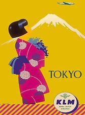 Tokyo Japan Japanese Asia Asian Geisha Vintage Travel Advertisement Art Poster