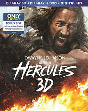 Hercules Blu-Ray 3D/DVD/BluRay/Bonus Disc and Digita Best Buy Exclusive The Rock