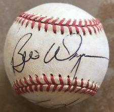 Ted Higuera Bill Wegman Jaime Navarro autographed baseball Milwaukee Brewers +4