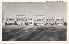 """*New York Postcard-""""Central School"""" ...Mayfield, N.Y.-"""