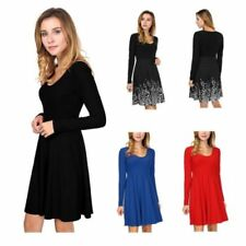 Polyester Scoop Neck Dresses A-Line