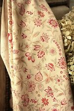 Vintage French 1920 1930 curtain fabric LOVELY floral design Beautiful ! ~