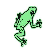 "Frog Green car window bumper sticker decal 5"" x 3"""