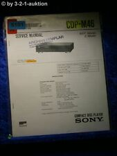 Sony Service Manual CDP M46 CD Player (#5101)