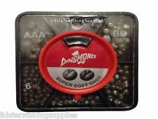 Dinsmore 5 way Division Fishing Split Shots + Dispenser Carp Fishing Tackle Shot