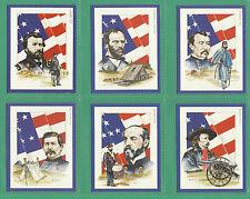 VICTORIA  GALLERY - SET OF 20  AMERICAN  CIVIL  WAR  LEADERS  CARDS  -  1992