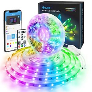 Govee LED Strip Lights 10m, Bluetooth RGB LED Light Strip with Music Sync, via 3
