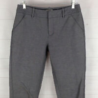 MERONA womens size 6 stretch gray flat front mid rise crop tapered pants EUC