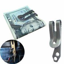 Stainless Steel Money Clip, Bottle Opener & Key Chain Pocket Holder