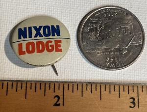 Richard Nixon Lodge 1960 Small Campaign pin button political