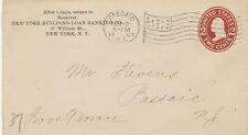 "USA 1907 2 C Washington superb STO PS env machine FLAG postmark ""PASSAIC, N.J."""