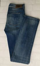 DIESEL Women's Faded Distressed Blue Jeans Cow Leather Size W27 L32 Slim -A746