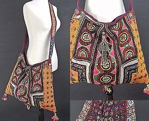 Hand Made Vintage Bohemian Large Shoulder Bag Vegan Banjara Hippie Bohemian Chic