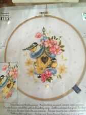Vervaco cross stitch kit - Our new bird house - 8""