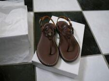NIB 100% AUTH Gucci Kids Logo Leather Thong Sandals Sz 29/Us 12