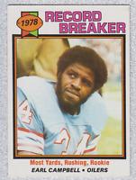 1979 TOPPS FOOTBALL EARL CAMPBELL RECORD BREAKER # 331