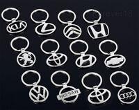3D Chrome Car Logos Titanium Metal Alloy Keyfob Keyring Keychain Key Chain Ring