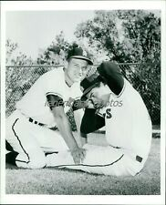 1960s Bobby Knoop Works out with Jim Fregosi Original News Service Photo