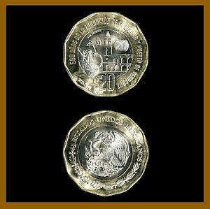 Mexico 20 Pesos Coin, 2019 Bimetallic 500th Anniversary of Veracruz Ship Unc