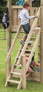 Premium Treppe mit Handlauf für kleine Kinder Holztreppe für Spielhaus Spielturm