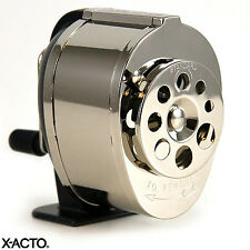 Manual Pencil Sharpener by X-ACTO | 8 Sizes Metal Finish Wall Table Desk Mount