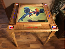 Gallo Domino Table with the Puerto Rico Flag -MVP