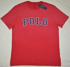 New XL Polo Ralph Lauren Mens logo short sleeve crew neck Tee T-shirt Red top RL