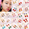 Fashion Bohemian Jewelry Crystal Tassel Earrings Long Stud Drop Dangle Women