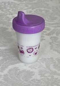 Vintage Playtex Sippy Cup Purple 6 oz Animal Faces