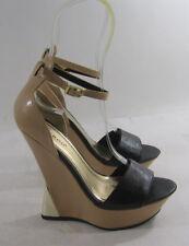 Bambú Negro / Tono de la piel 14cmhigh Tacón Cuña 3.8cmplatform SeXy Zapatos