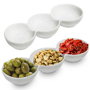 Olive Bowls Serving Dish Snack Plate Dip Tray Nibbles Tapas Nuts Party Dishes