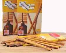 LOTTE Pepero Thin Stick Snack 2 boxes, Nude Chocolate - Korea Snack