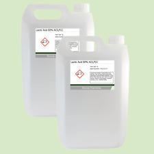 Lactic Acid 80% 2 x 5 Litre (10L) Food Grade Acne/Facial/Home Brew