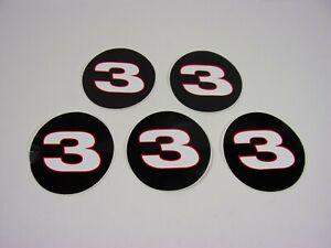 "NEW 1990'S NASCAR DALE EARNHARDT SR #3 LOGO 3"" ROUND STICKER DECAL LOT OF 5"
