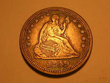 1849 Seated Liberty Quarter (XF & Attractive)