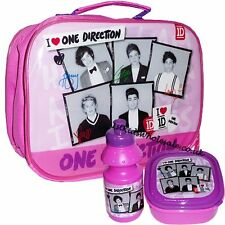 One direction lunch bag Box 3pcs sandwich box and bottle Brand Official NEW Girl